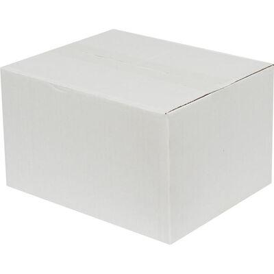 25x20x15cm Tek Oluklu Beyaz Koli