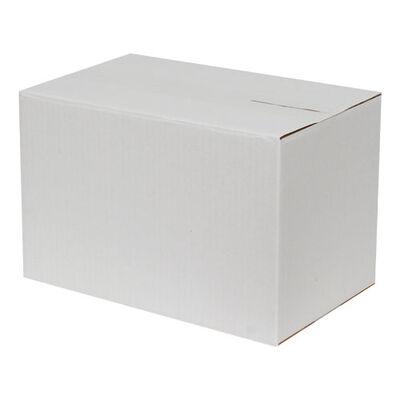 28x18x18cm Tek Oluklu Koli - Beyaz