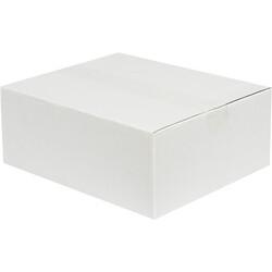30x25x12cm Tek Oluklu Koli - Beyaz - Thumbnail