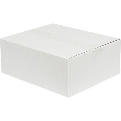 30x25x12cm Tek Oluklu Koli - Beyaz