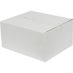 30x25x15cm Tek Oluklu Beyaz Koli - Thumbnail