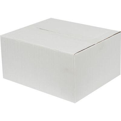 30x25x15cm Tek Oluklu Beyaz Koli