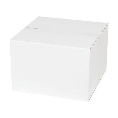 30x30x20cm Tek Oluklu Koli - Beyaz
