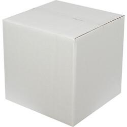 30x30x25cm Çift Oluklu Beyaz Koli - Thumbnail