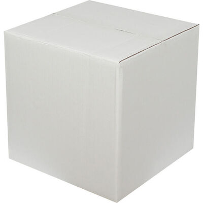 30x30x25cm Çift Oluklu Beyaz Koli