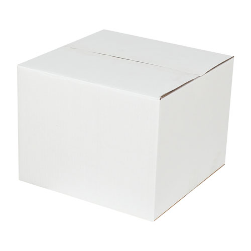 32x32x24,5cm Çift Oluklu Koli - Beyaz - Thumbnail