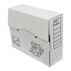 34x11x28cm Arşiv Kutusu - Beyaz - Thumbnail