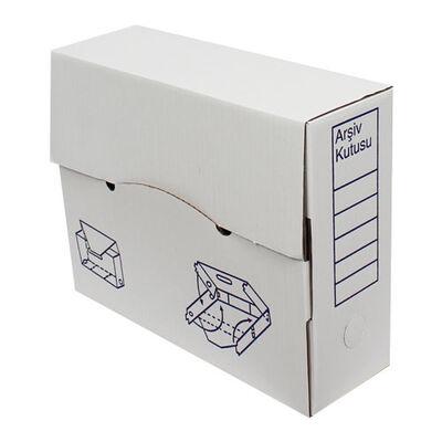 34x11x28cm Arşiv Kutusu - Beyaz