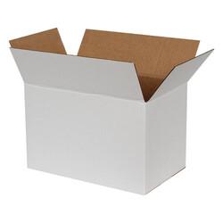 35x20x20cm Tek Oluklu Koli - Beyaz - Thumbnail