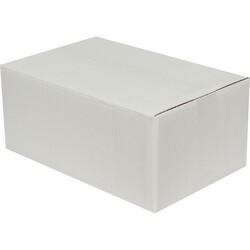 35x22x15cm Çift Oluklu Koli - Beyaz - Thumbnail