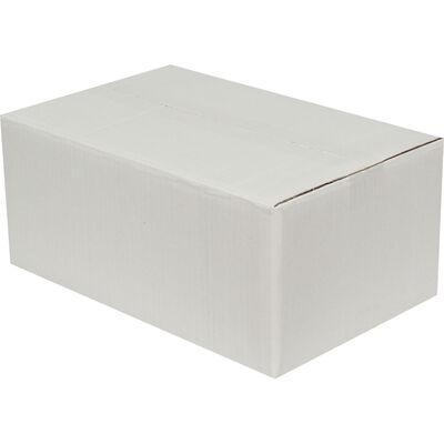 35x22x15cm Çift Oluklu Koli - Beyaz