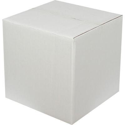 35x35x35cm Çift Oluklu Beyaz Koli