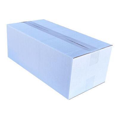 40x20x15cm Tek Oluklu Koli - Beyaz