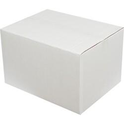 40x30x25cm Çift Oluklu Beyaz Koli - Thumbnail