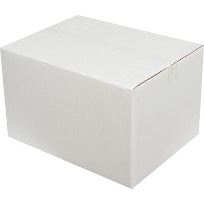 40x30x25cm Çift Oluklu Beyaz Koli