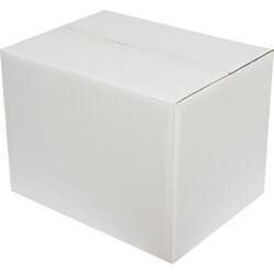40x30x30cm Çift Oluklu Beyaz Koli - Thumbnail