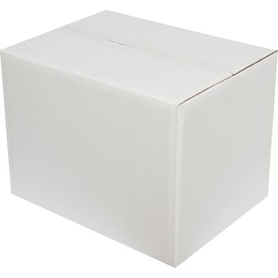 40x30x30cm Çift Oluklu Beyaz Koli