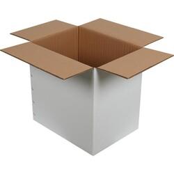 40x30x40cm Çift Oluklu Beyaz Koli - Thumbnail