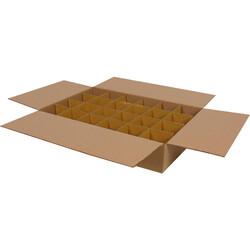 43,5x29x9cm Seperatörlü Çay Bardağı Kolisi - Kraft - Thumbnail