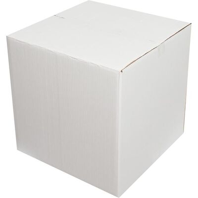 45x45x45cm Çift Oluklu Beyaz Koli