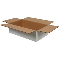 50x30x15cm Çift Oluklu Beyaz Koli - Thumbnail