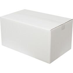 50x30x25cm Çift Oluklu Beyaz Koli - Thumbnail