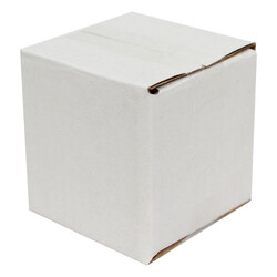 5x5x5cm Tek Oluklu Koli - Beyaz - Thumbnail