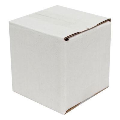 5x5x5cm Tek Oluklu Koli - Beyaz