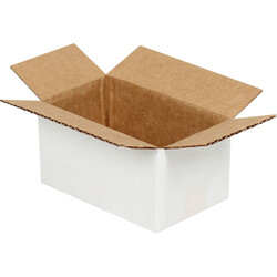 6,5x3,5x3cm Tek Oluklu Beyaz Koli - Thumbnail