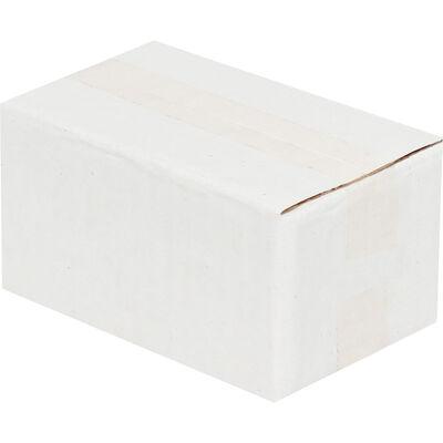 6,5x3,5x3cm Tek Oluklu Beyaz Koli
