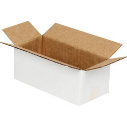 8,5x3,5x3cm Tek Oluklu Beyaz Koli - Thumbnail