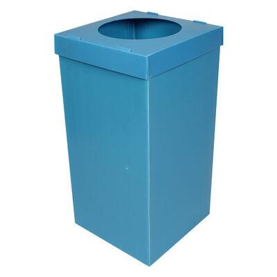 Plastik Atık Kağıt Kutusu [Mavi]